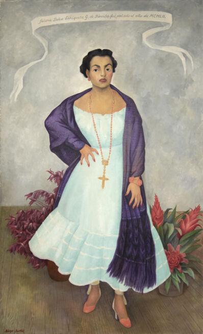 Diego Rivera, 'Portrait of Enriqueta G. Dávila', 1952