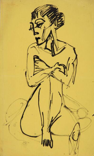 Ernst Ludwig Kirchner, 'Sitzender Akt (Sitting Nude)', 1915