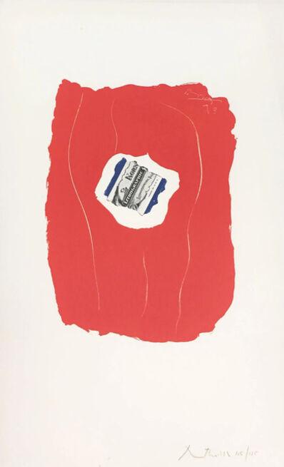 Robert Motherwell, 'Tricolor 137', 1973