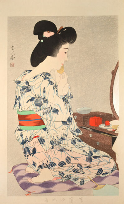 Kotondo Torii, 'Iris Summer Kimono', 1932