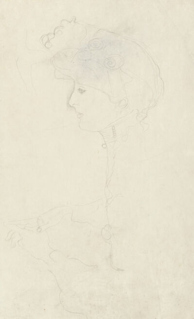 Gustav Klimt, 'Portrait of a Woman in Profile, Facing Left', 1904-1905