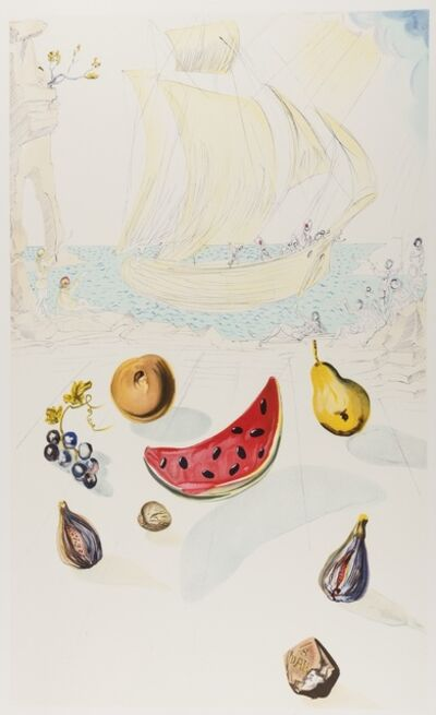 Salvador Dalí, 'Ship and Fruits', 1986