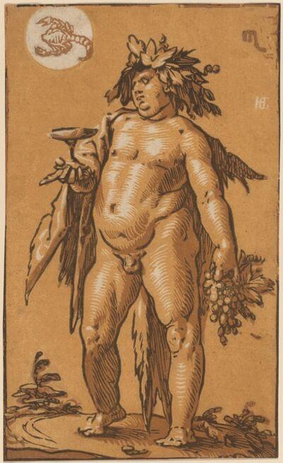 Hendrik Goltzius, 'Bacchus', ca. 1595