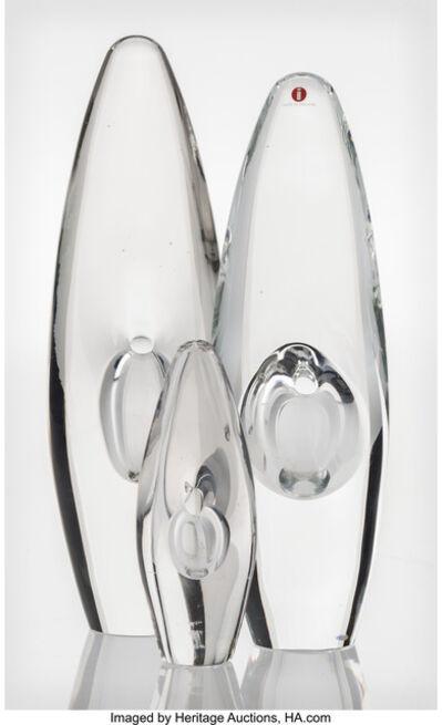 Timo Sarpaneva, 'Three Orkdea Vases', 1957-1989