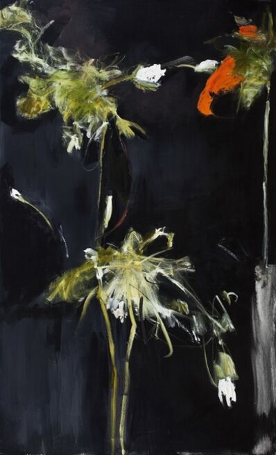 Farideh Lashai, 'Foliage in Darkness series (Orange Flower, Green Stem)', 2007