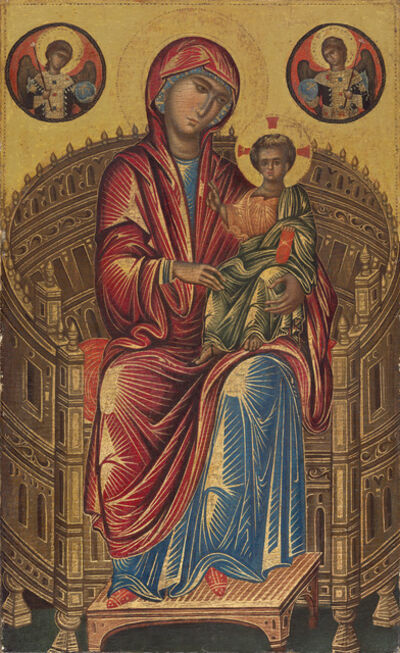 'Madonna and Child on a Curved Throne', 13th century