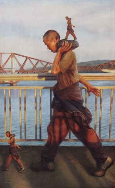 He Yunchang 何云昌, 'Me and Myself, The Forth Bridge', 2018
