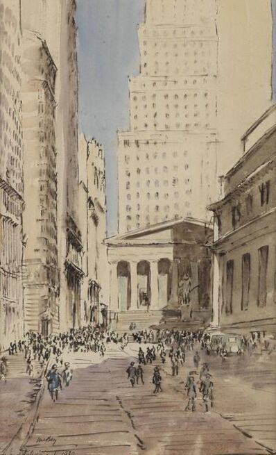James McBey, 'Sub-Treasury Building, Wall Street, New York City', 1930
