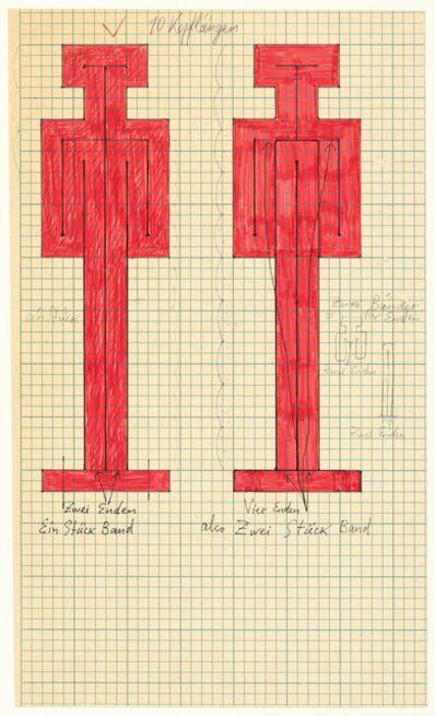 Joannis Avramidis, 'Orthogonale Bandfiguren Entwurf', 1969/1970