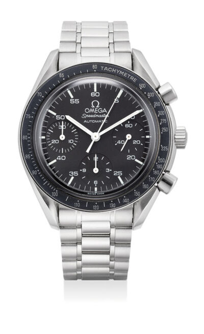 OMEGA, 'A fine stainless steel automatic chronograph wristwatch with bracelet', Circa 1998