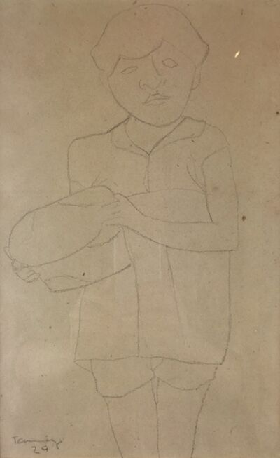 Rufino Tamayo, 'Girl Making Tortilla', 1929
