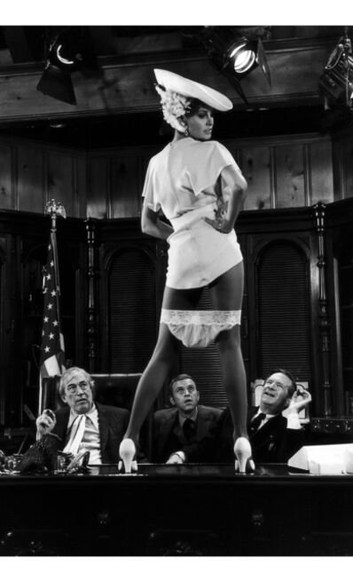 Terry O'Neill, 'American actress Raquel Welch on a table in her knickers in 'Myra Breckinridge', a 1970 American comedy film based on Gore Vidal's novel and directed by Michael Sarne, with Raquel Welch in the title role', 1970