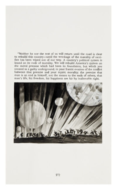 Yevgeniy Fiks, 'Ayn Rand in Illustrations (Atlas Shrugged, page 976)', 2010
