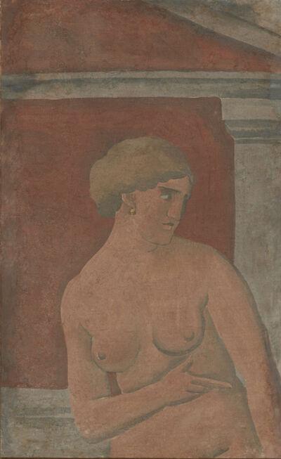 Joaquín Torres-García, 'Desnudo de mujer con frontón [Nude Woman with Pediment]', 1926
