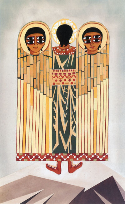 "Natalia Goncharova, 'Costume sketch for an angel, from the ballet to spiritual music ""Liturgy""', 1915"