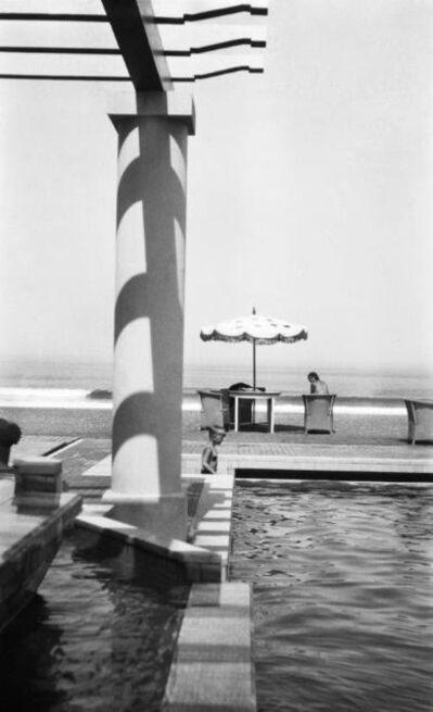 Jacques Henri Lartigue, 'Renée Perle  à la piscine de la Chambre d'Amour, Biarritz', 1930