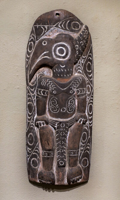 Papua New Guinea Tribal Art, 'Storyboard 6', 1960-1995