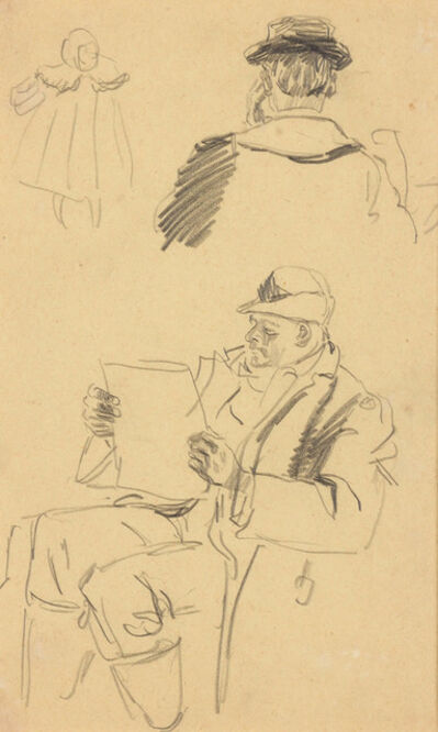 Charles Nicholas Sarka, 'Man Reading, Paris'