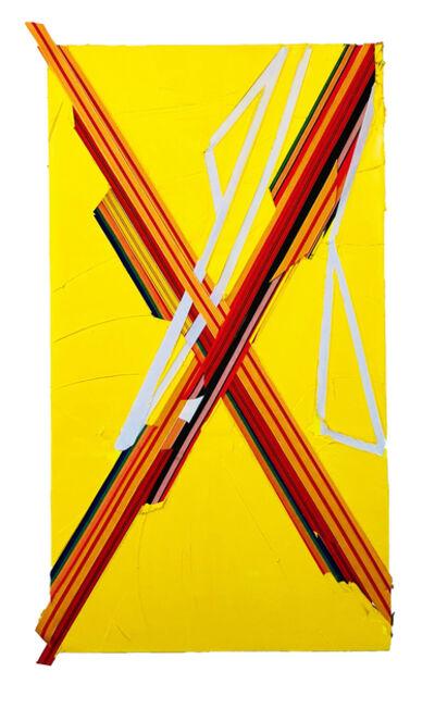 Martin Wehmer, 'yellow X', 2018