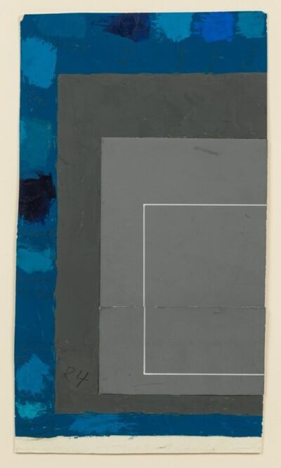 Josef Albers, 'Color study (Homage to the Square/White Line Square)', 1966