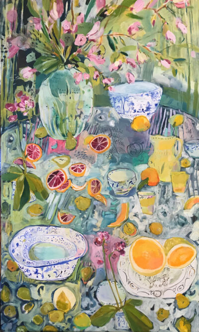 Elizabeth Endres, 'Fruit Slices and Floral', 2020