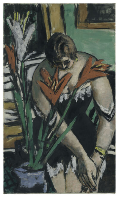 Max Beckmann, 'Frau bei der Toilette mit roten und weissen Lilien (Woman at Her Toilette with Red and White Lilies)', 1938