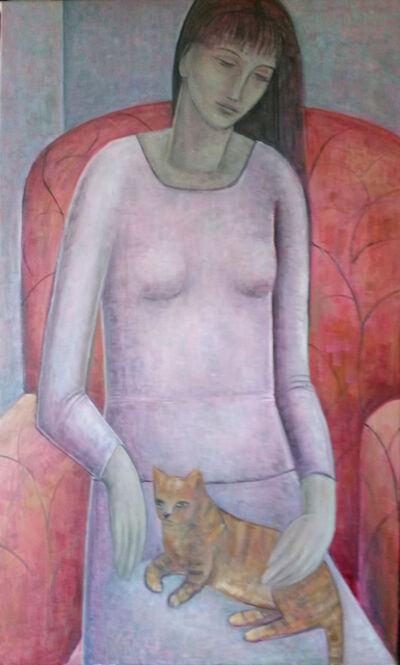 Ruth Addinall, 'Woman and Cat', 2016