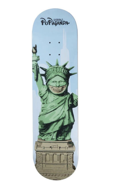 Ron English, ''Liberty Grin' Skateboard Deck', 2016