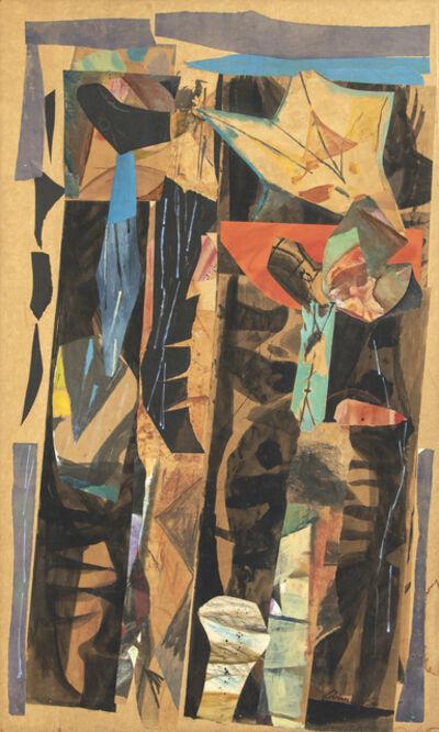 Rico Lebrun, 'Mexican Street in the Rain', 1954