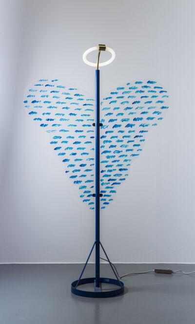 """Ugo La Pietra, 'Lampada """"Arcangelo metropolitano"""" - Riconversione progettuale', 2007"""