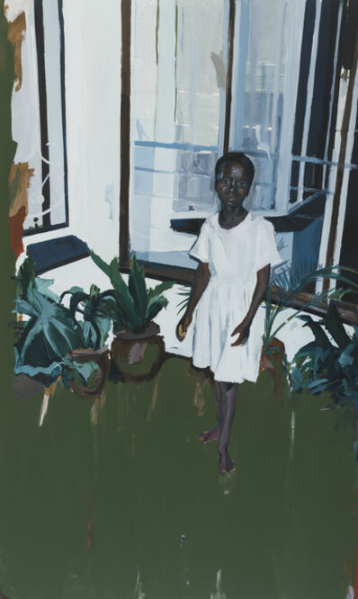 Kudzanai-Violet Hwami, 'Girl by the Veranda', 2017