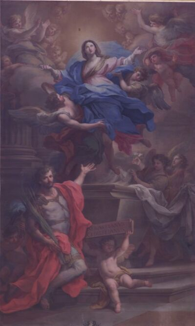 Sebastiano Conca, 'The Virgin of the Assumption and San Sebastian', ca. 1740