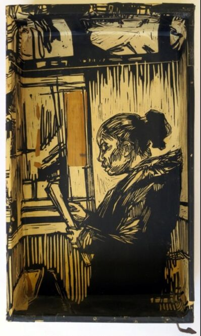 Swoon, 'Myrtle Ave Windows 2 (Box)', 2014