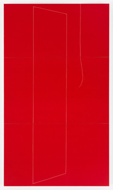 Kate Shepherd, '#2 thread out, red', 2015