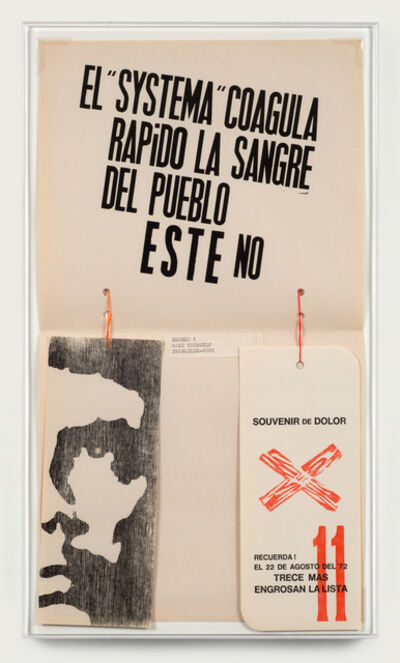 Edgardo Antonio Vigo, 'The System Rapidly Coagulates the Blood of the People. This does not.', 1972