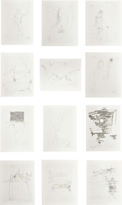 Joseph Beuys, 'Drawings for 'Codices Madrid' by Leonardo da Vinci', 1975