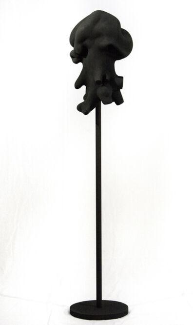 Shayne Dark, 'Windfall Black - dark, playful, matte, painted, wood, standing sculpture', 2019