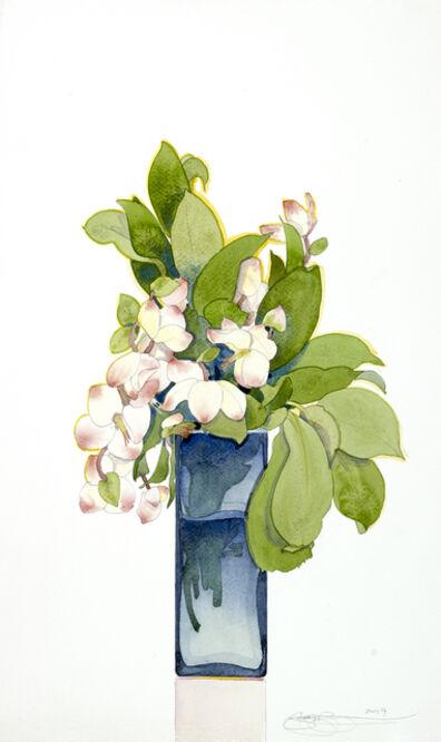 Gary Bukovnik, 'Blossoms in a Blue Vase', 2019