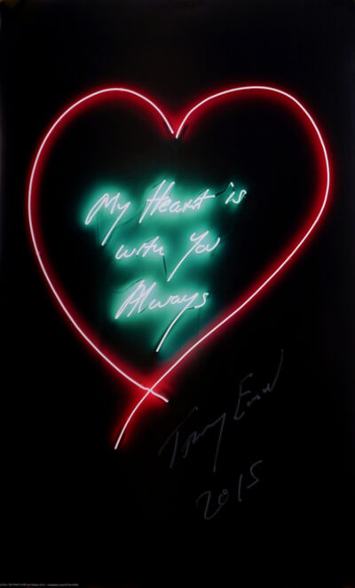 Tracey Emin, 'My Heart is Always with You & But Yea', 2015