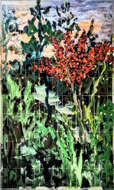 Norma de Saint Picman, 'Red bush, evening - Metamorphoses, the Worlds of Change', 2020