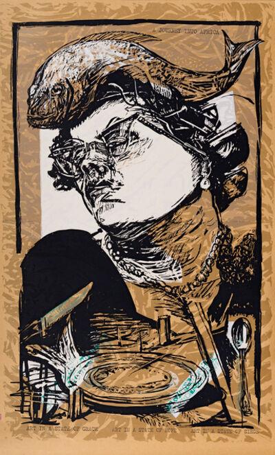 William Kentridge, 'Art in a State of Grace; Art in a State of Hope (100 Years of Easy Living); Art in a State of Siege (Tatlin in Berea), three', 1988