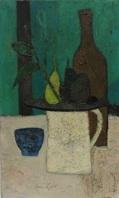 Rene Genis, 'Nature morte au fond vert', 1965