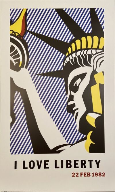 "Roy Lichtenstein, '""I Love LIberty, Washington, D.C.  Lithographic Political Poster', 1982"