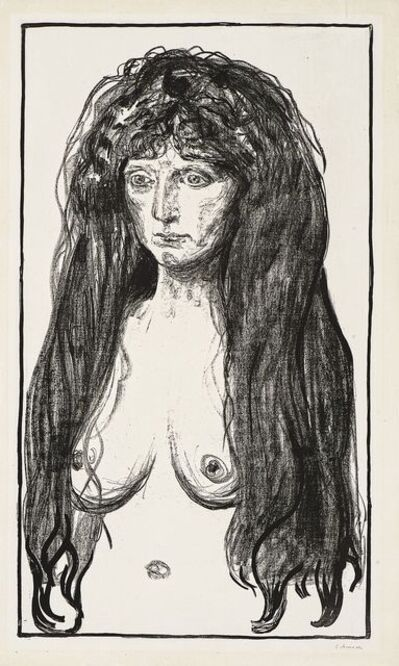 Edvard Munch, 'Kvinne med rødt hår og grønne øyne.  Synden (Woman with Red Hair and Green Eyes. The Sin)', 1902