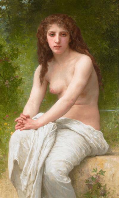 William-Adolphe Bouguereau, 'Réflexion (Reflection)', 1898