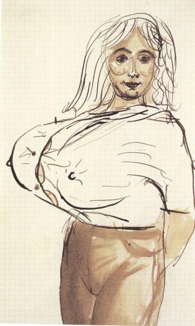 John Currin, 'Big breasted woman', 1988