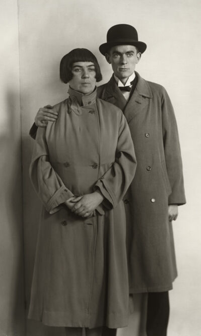 August Sander, 'The Painter Anton Räderscheidt and his Wife Marta Hegemann', ca. 1925-printed 1990
