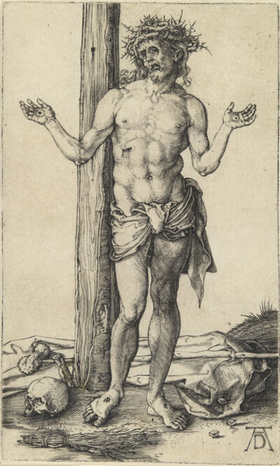 Albrecht Dürer, 'The Man of Sorrows with Arms Outstretched', ca. 1500