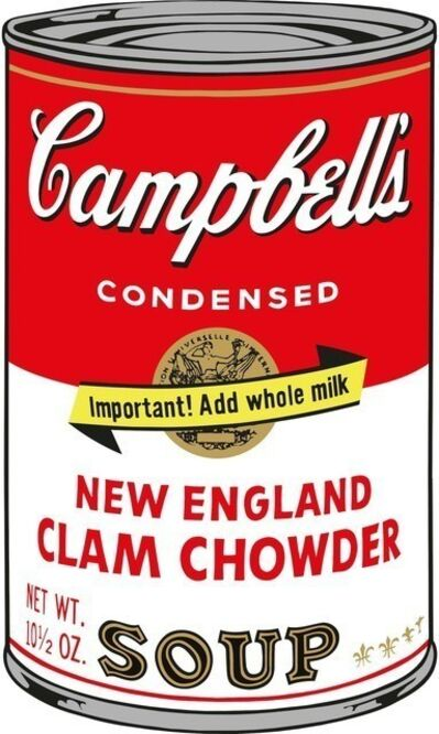 Andy Warhol, 'Campbell's New England Clam Chowder Soup', 1968