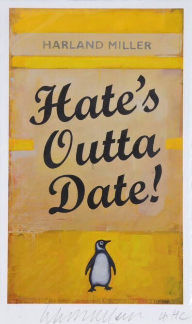 Harland Miller, 'Hates Outta Date', 2017